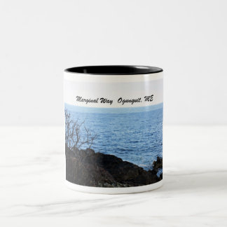 Marginal Way, Ogunquit, Maine Two-Tone Coffee Mug