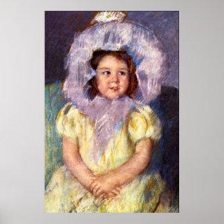 Margo en blanco de Maria Stevenson Cassatt Posters