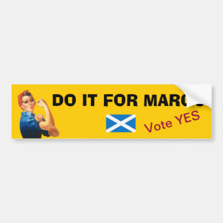 Margo MacDonald Tribute Scottish Independence Car Bumper Sticker