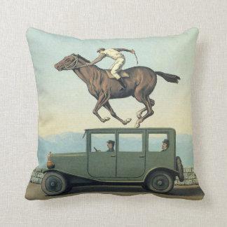 MARGRITTE HORSE RACING CAR Cushion