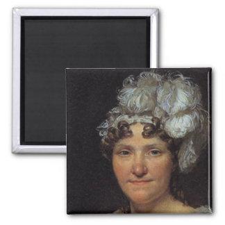 Marguerite Charlotte David 2 Inch Square Magnet