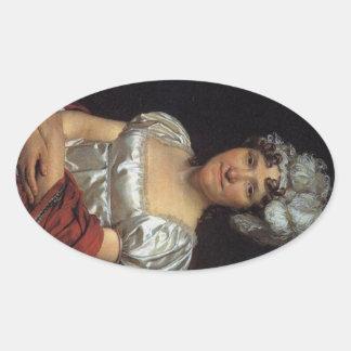 Marguerite Charlotte David Oval Sticker