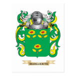 Marguerite Coat of Arms (Family Crest) Postcard