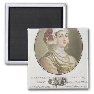 Marguerite d'Anjou (1429-82) engraved by Ride, 178 2 Inch Square Magnet
