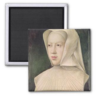 Marguerite de Habsbourg  Duchess of Savoy 2 Inch Square Magnet