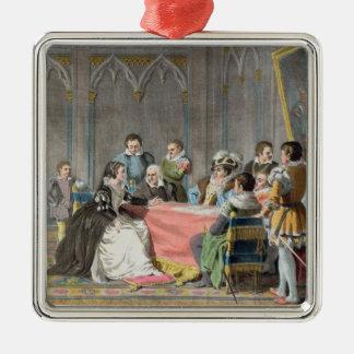 Marguerite de Valois (1553-1615) delante del S Adorno Cuadrado Plateado