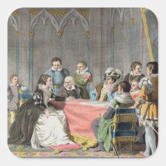 Marguerite de Valois (1553-1615) delante del S Colcomanias Cuadradases