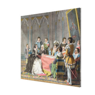 Marguerite de Valois (1553-1615) in front of the S Canvas Print