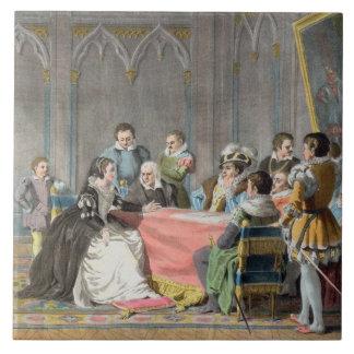 Marguerite de Valois (1553-1615) in front of the S Ceramic Tile