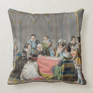 Marguerite de Valois (1553-1615) in front of the S Throw Pillow