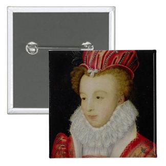 Marguerite de Valois c.1572 Pin Cuadrada 5 Cm