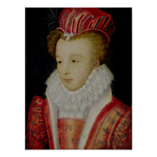 Marguerite de Valois  c.1572 Poster