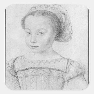 Marguerite de Valois conocido como La Reine Margar Calcomanía Cuadradas