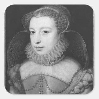 Marguerite de Valois Queen de Navarra Calcomanías Cuadradas