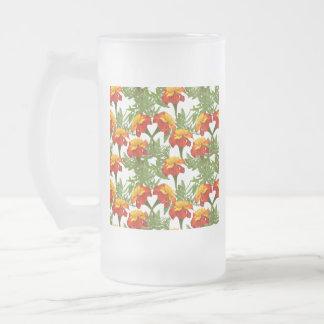 marguerite frosted glass beer mug