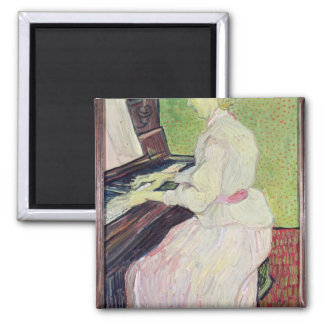 Marguerite Gachet at the Piano, 1890 2 Inch Square Magnet
