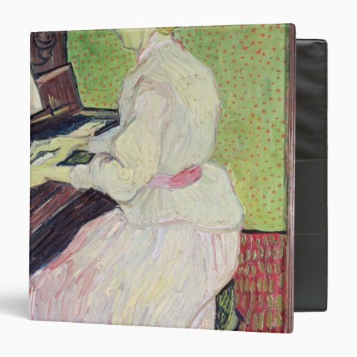 Marguerite Gachet at the Piano, 1890 3 Ring Binder