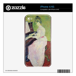 Marguerite Gachet at the Piano, 1890 iPhone 4S Decal
