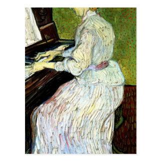 Marguerite Gachet at the Piano - Vincent van Gogh Postcard
