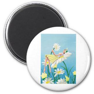 Marguerite 2 Inch Round Magnet