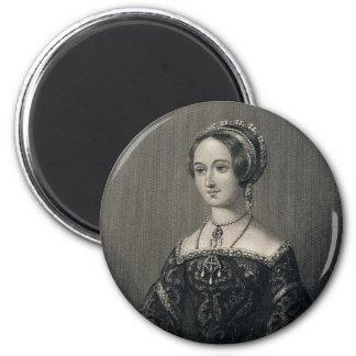 Marguerite Queen of Navarre by John J. Hinchliff 2 Inch Round Magnet