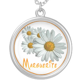 Marguerite Silver Plated Necklace