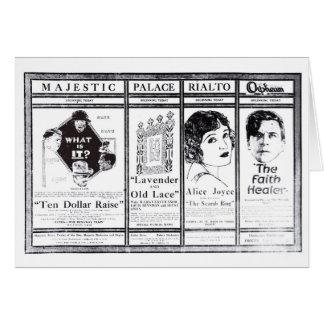 Marguerite Snow Milton Sills silent movie ads 1921 Card