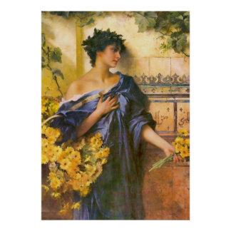 Marguerites by Conrad Kiesel Poster