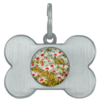 Marguerites in Field Pet Name Tag