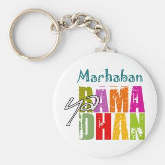 Marhaban ya Ramadhan Basic Round Button Keychain