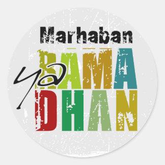 Marhaban ya Ramadhan Classic Round Sticker