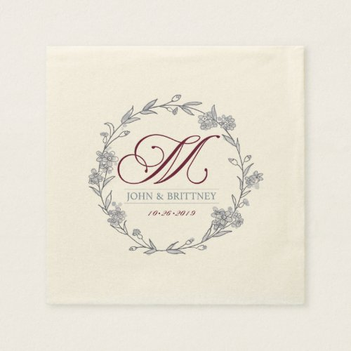 Marhoff Wedding Napkins