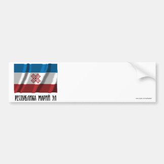 Mari El Republic Flag Bumper Sticker