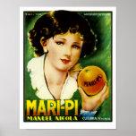 Mari Pi Oranges Poster