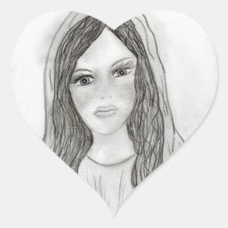 Maria agradable pegatina corazón