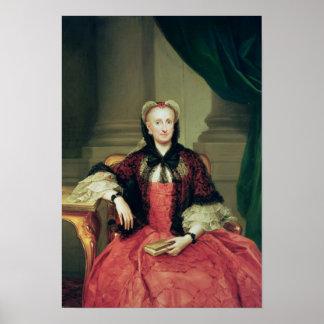 Maria Amalia de la reina de Sajonia de España Póster