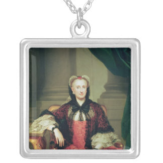 Maria Amalia of Saxony  Queen of Spain Silver Plated Necklace