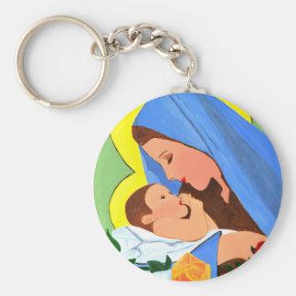 Maria and baby Jesus Keychain