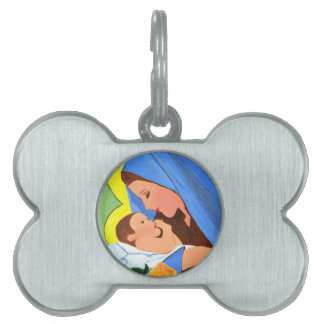 Maria and baby Jesus Pet ID Tag
