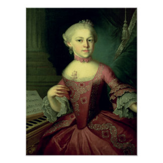 Maria-Anna Mozart, called 'Nannerl' Poster