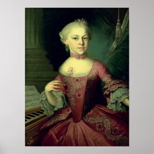 Maria Anna Mozart, llamada 'Nannerl Póster