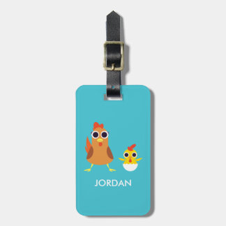 Maria & Bandit the Chickens Luggage Tag