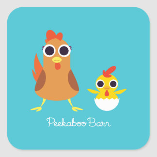Maria & Bandit the Chickens Square Sticker