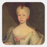 Maria Barbara de Braganza  Queen of Spain Square Stickers