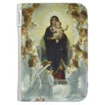 Maria, bebé Jesús, y ángeles