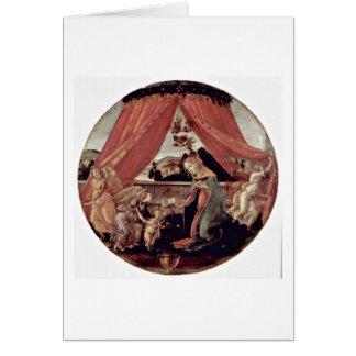 Maria, bebé Jesús y ángeles de Sandro Botticelli Tarjeta De Felicitación