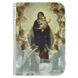 Maria bebé Jesús y ángeles