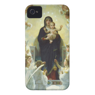 Maria, bebé Jesús, y ángeles Case-Mate iPhone 4 Fundas