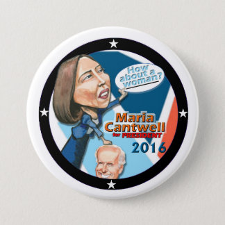 Maria Cantwell for President 2016 Button