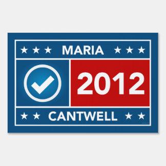 Maria Cantwell Yard Sign